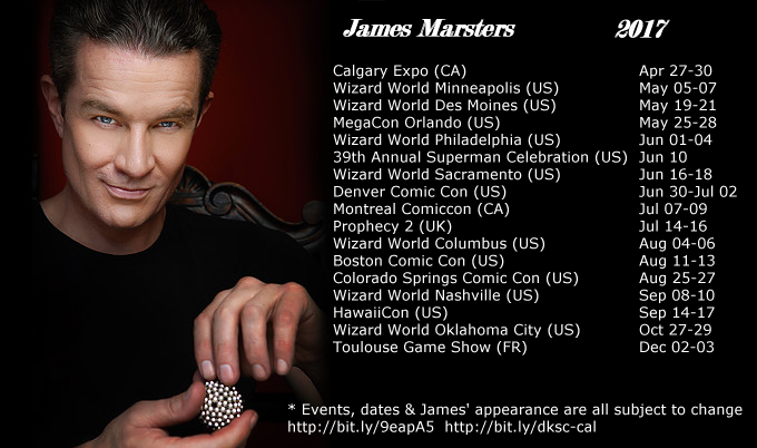 James Marsters Upcoming Events/Conventions